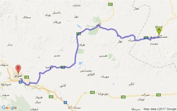 جاده اورارتویی مشگین شهر احیا می گردد
