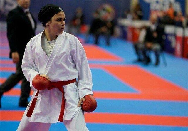 سارا بهمنیار تنها فینالیست ایران در روز نخست کاراته وان ژاپن، حسن نیا و عسگری در رده بندی