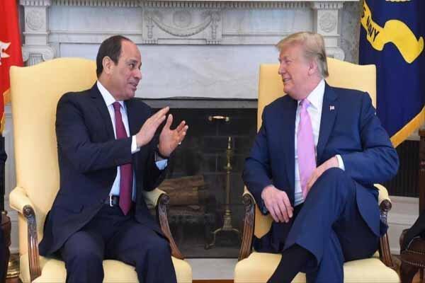 مردم مصر سیسی را نمی خواهند و ترامپ رهبر بزرگ می خوانَدَش!