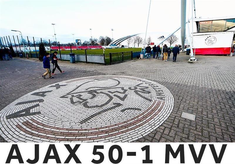اتفاقی جالب در فوتبال هلند؛ آژاکس 50 گل به حریف زد!