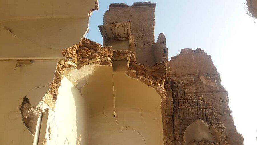 سقف اتاق های خانه تاریخی مقدم در کاشان برای سومین بار فرو ریخت