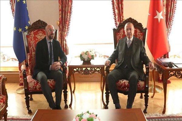 رئیس جمهوری ترکیه و رئیس شورای اتحادیه اروپا تبادل نظر کردند