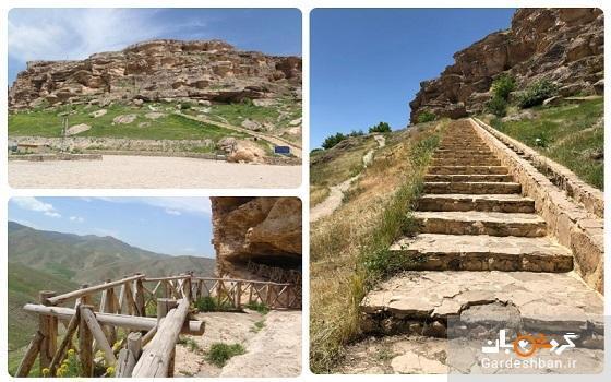 غار تاریخی کرفتو سنندج از مهم ترین غارهای تاریخی ایران، عکس
