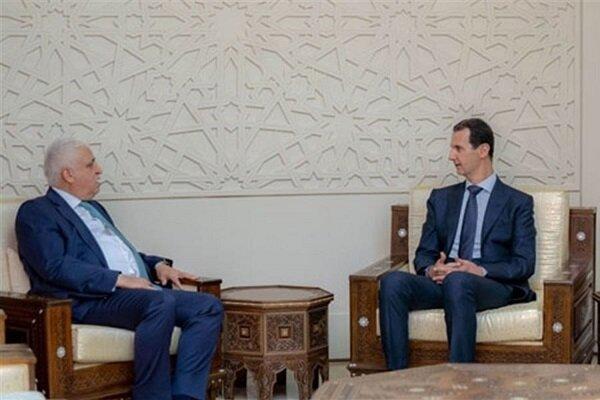 فالح الفیاض نامه الکاظمی را به رئیس جمهور سوریه تحویل داد