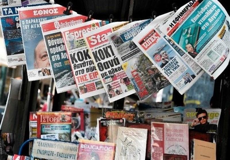 نشریات ترکیه، فشار یک جانبه اروپا، واکنش تند ترکیه ، حمایت مرکل از یونان در برابر ترکیه