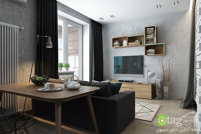 دکوراسیون آپارتمان 40 متری و کمتر با چیدمانی دقیق و بسیار شیک