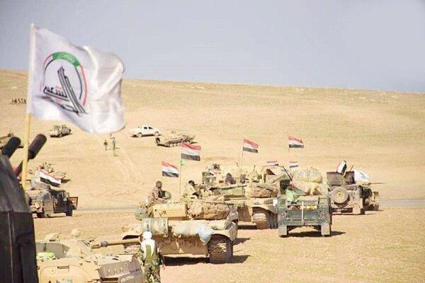 حشد شعبی مواضع بقایای داعش را منهدم کرد