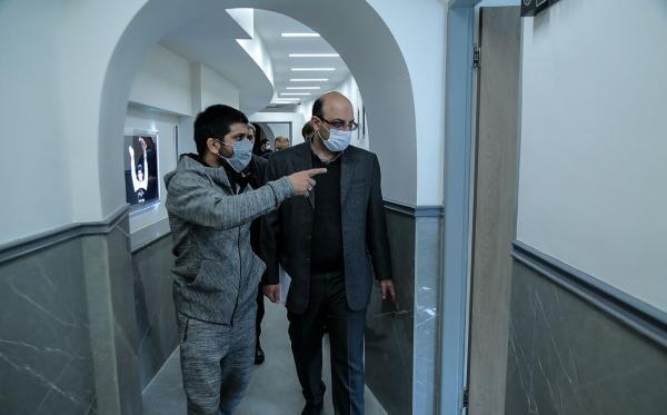 خبرنگاران بازدید علی نژاد از فدراسیون کشتی